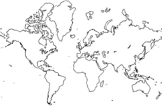 Outline world map