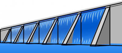 Illustration of a dam